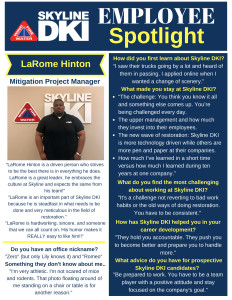 LaRome Hinton - Mitigation Project Manager - Skyline DKI